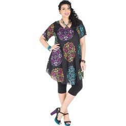 Odzież damska: Sukienka w kolorze czarnym ze wzorem