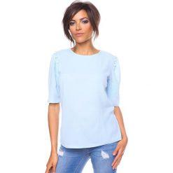 """Bluzki asymetryczne: Koszulka """"Adam"""" w kolorze błękitnym"""
