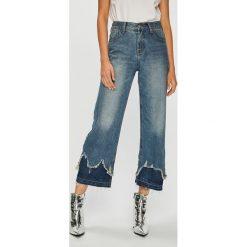 Answear - Jeansy. Niebieskie jeansy damskie z wysokim stanem ANSWEAR. W wyprzedaży za 114,90 zł.