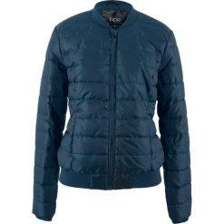 Kurtka pikowana bonprix ciemnoniebieski. Niebieskie kurtki damskie pikowane marki bonprix, z nadrukiem. Za 79,99 zł.