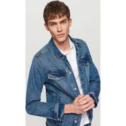 Jeansowa kurtka - Granatowy. Niebieskie kurtki damskie jeansowe Reserved. Za 119,99 zł.