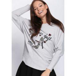 Jasnoszary Sweter Perfect Day. Szare swetry klasyczne damskie Born2be, l, z dekoltem w łódkę. Za 69,99 zł.