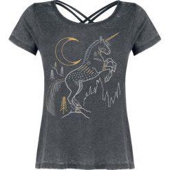 Harry Potter Forbidden Forest - Unicorn Koszulka damska szary. Szare bluzki z odkrytymi ramionami Harry Potter, m, z nadrukiem, z dekoltem na plecach. Za 99,90 zł.