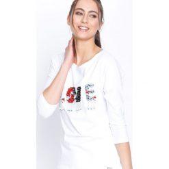 Biała Bluzka Love Beads. Białe bluzki asymetryczne Born2be, m, z długim rękawem. Za 39,99 zł.