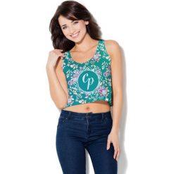 Colour Pleasure Koszulka damska CP-035 261 zielona r. XS-S. Fioletowe bluzki damskie marki Colour pleasure, uniwersalny. Za 64,14 zł.