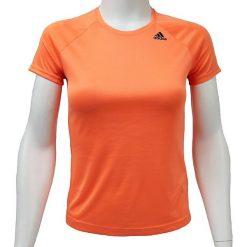 Adidas Koszulka damska D2M Tee Lose pomarańczowa r. S. Brązowe bluzki damskie Adidas, m. Za 83,42 zł.
