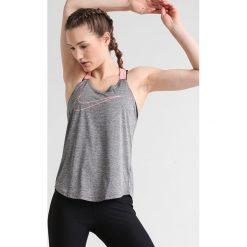 Nike Performance Koszulka sportowa dark grey/heather/bright melon. Szare t-shirty damskie Nike Performance, l, z materiału. W wyprzedaży za 125,10 zł.