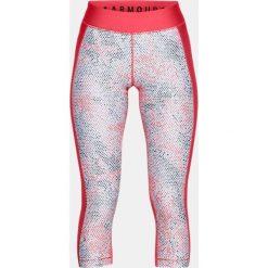 Spodnie sportowe damskie: Under Armour Spodnie damskie HeatGear Print Armour Capri różowe r. L (1310667-714)