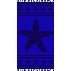 """Kąpielówki męskie: Fouta """"Cisele Azur"""" w kolorze granatowym – 160 x 90 cm"""