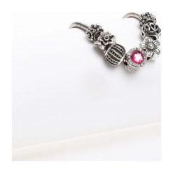 Bransoletki damskie: Srebrno-Różowa Bransoletka Harmony