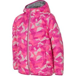 Kurtka puchowa 2w1 dla dużych dziewcząt JKUDP202 - różowy. Czerwone kurtki chłopięce przejściowe marki 4F JUNIOR, na lato, z dzianiny. Za 79,99 zł.