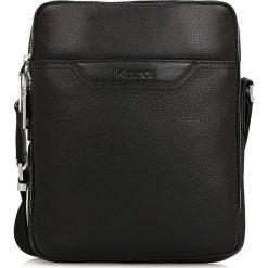 Czarna torba przez ramię. Czarne torby na ramię męskie Kazar, w paski, ze skóry, przez ramię, małe. Za 549,00 zł.