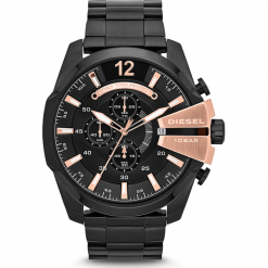 Zegarek DIESEL - Mega Chief DZ4309 Black/Black. Czarne zegarki męskie Diesel. Za 1099,00 zł.