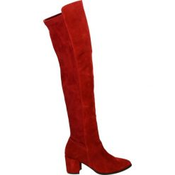 Kozaki - AMS1349 RIBES. Czarne buty zimowe damskie marki Venezia, z materiału, na obcasie. Za 449,00 zł.