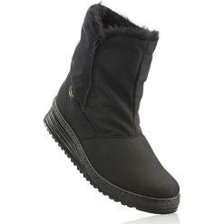 Nieprzemakalne kozaki na każdą pogodę bonprix czarny. Czarne buty zimowe męskie marki bonprix. Za 179,99 zł.