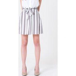 Minispódniczki: Spódnica w kolorze szaro-białym
