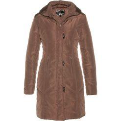 Płaszcz pikowany bonprix ciemnobrązowy. Brązowe płaszcze damskie pastelowe bonprix. Za 169,99 zł.