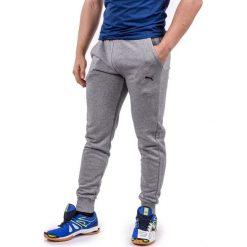 Spodnie męskie: Puma Spodnie męskie Ess Sweet Pants Slim Medium Grey Heather szare r. XL (838380-03)