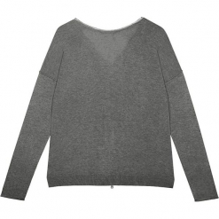 Sweter jedwabny w kolorze szarym. Szare kardigany damskie marki Ateliers de la Maille, z jedwabiu. W wyprzedaży za 318,95 zł.