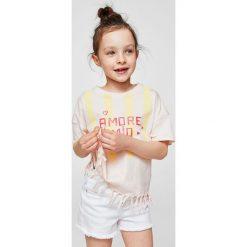 Mango Kids - Top dziecięcy Mio 110-164 cm. Fioletowe bluzki dziewczęce marki OLAIAN, z elastanu, sportowe. W wyprzedaży za 29,90 zł.