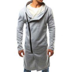 Bluzy męskie: Bluza męska z kapturem rozpinana szara (bx2339)