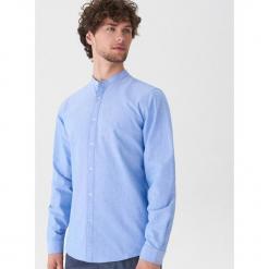 Koszula z bawełny oxford - Niebieski. Szare koszule męskie marki House, l, z bawełny. Za 79,99 zł.