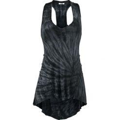 Innocent Lucy Tye Dye Vest Top damski czarny/szary. Niebieskie topy damskie marki Innocent, xl, w ażurowe wzory, z materiału, z dekoltem na plecach. Za 79,90 zł.