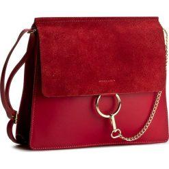 Torebka CREOLE - K10312  Czerwony. Czerwone listonoszki damskie marki Creole, ze skóry. W wyprzedaży za 179,00 zł.