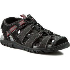 Sandały GEOX - U S Strada B U6224B 00050 C9999 Czarny. Czarne sandały męskie skórzane Geox. W wyprzedaży za 239,00 zł.