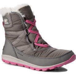Buty: Śniegowce SOREL – Youth Whitney Short Lace NY1897 Quarry/Pink Ice 052
