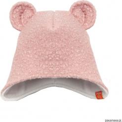 Czapka zimowa zakrywająca uszy - jasny roż. Czerwone czapeczki niemowlęce Pakamera, na zimę, z polaru. Za 79,00 zł.
