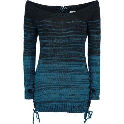 Innocent Thena Top Bluza damska czarny/niebieski. Niebieskie bluzy damskie marki Innocent, xl, w ażurowe wzory, z materiału, z dekoltem na plecach. Za 164,90 zł.