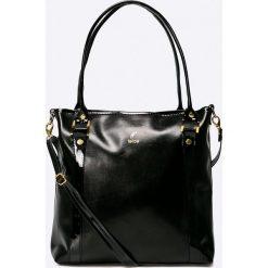 Felice - Torebka Roma. Czarne shopper bag damskie Felice, z materiału, do ręki, duże. W wyprzedaży za 99,90 zł.