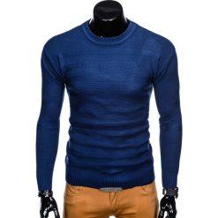 SWETER MĘSKI E135 - GRANATOWY. Zielone swetry klasyczne męskie marki Ombre Clothing, na zimę, m, z bawełny, z kapturem. Za 39,00 zł.