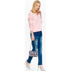 Bluzy rozpinane damskie: BLUZA Z WSTAWKAMI NA RĘKAWACH