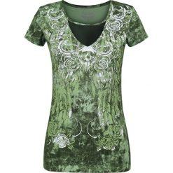 Rock Rebel by EMP In The Clear Koszulka damska zielony. Zielone bluzki z odkrytymi ramionami Rock Rebel by EMP, xxl, z materiału, rockowe. Za 121,90 zł.