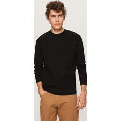 Prążkowany sweter - Czarny. Czarne swetry klasyczne męskie marki Reserved, m, prążkowane. Za 119,99 zł.