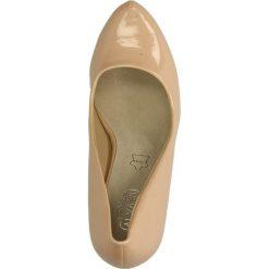 CZÓŁENKA CASU AH85956-35. Brązowe buty ślubne damskie Casu, na koturnie. Za 54,99 zł.