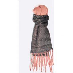 Only - Szal Azur. Szare szaliki damskie marki ONLY, w ażurowe wzory. W wyprzedaży za 39,90 zł.