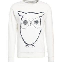 Bejsbolówki męskie: Knowledge Cotton Apparel BIG OWL Bluza star white