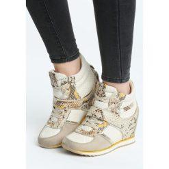 Beżowe Sneakersy Advisable. Brązowe sneakersy damskie Born2be, z materiału. Za 89,99 zł.