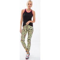 Cytynowe legginsy sportowe w panterkę H006. Szare legginsy sportowe damskie Fasardi, l, z motywem zwierzęcym. Za 59,00 zł.