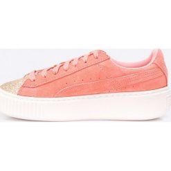 Buty sportowe dziewczęce: Puma – Buty dziecięce Suede Platform Glam