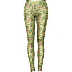 Legginsy we wzory: Legginsy w kolorze zielonym ze wzorem