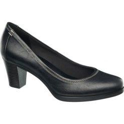 Czółenka damskie Graceland czarne. Czarne buty ślubne damskie Graceland, z materiału, na obcasie. Za 69,90 zł.