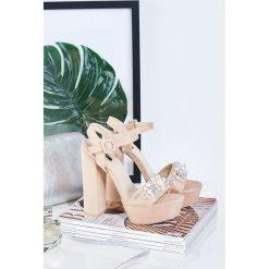 Sandały damskie: Beżowe Sandały Perfect Design