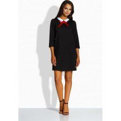 Sukienki: Klasyczna sukienka z kołnierzykiem czarny