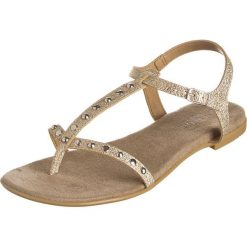Rzymianki damskie: Sandały w kolorze platynowym