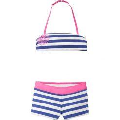 Stroje dwuczęściowe dziewczęce: Bikini dziewczęce (2 części) bonprix szafirowo-biały w paski