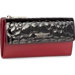 Duży Portfel Damski MONNARI - PUR1054-005 Red With Black. Czarne portfele damskie marki Monnari, z lakierowanej skóry. W wyprzedaży za 129,00 zł.